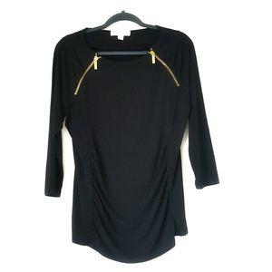 Michael Michael Kors zipper ruched blouse